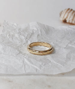 Yellow or Rose Gold 3.5mm Round Band