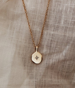 Yellow or Rose Gold True North necklace