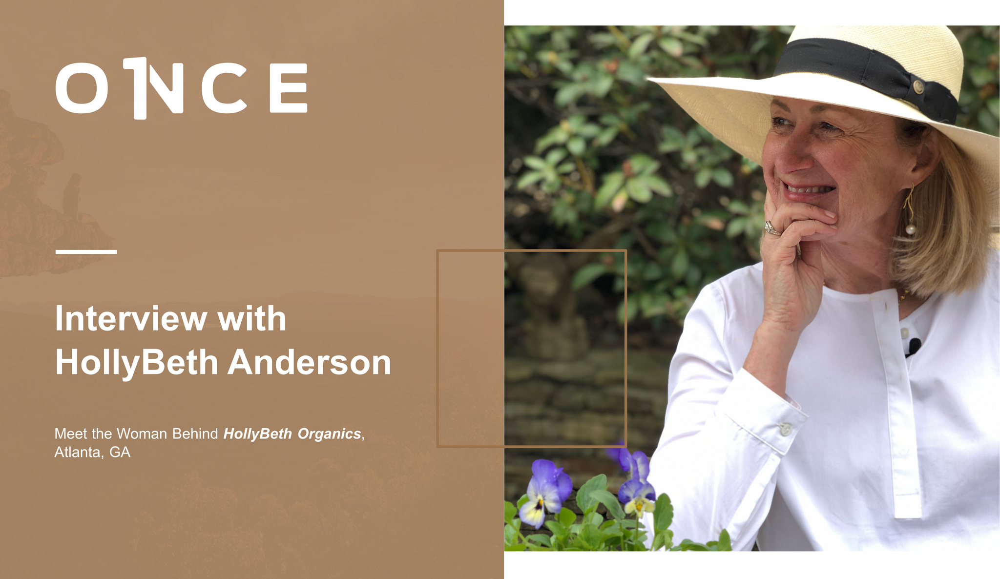 Image introducing an interview with HollyBeth Anderson of HollyBeth Organics