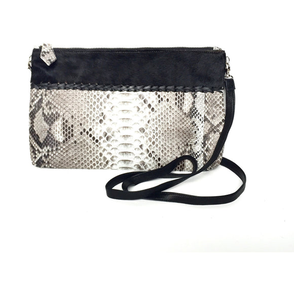 Sydney Black Crossbody Clutch