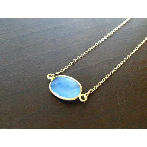 Grace Chalcedony on Gold Chain