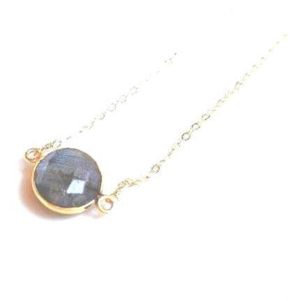 Grace Labradorite Bezel Necklace