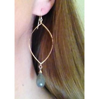 Siena Labradorite Drop Gold or Sterling Earrings