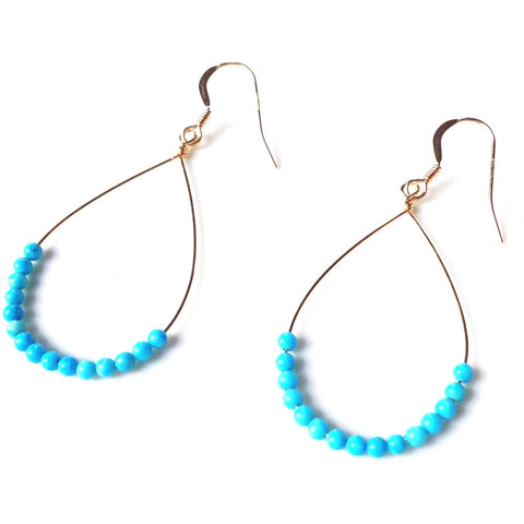 Addie Turquoise Beaded Earrings