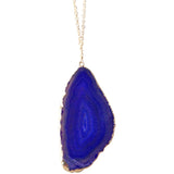 Abby Purple Agate Sliced Stone Necklace