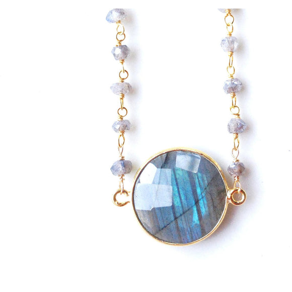 Adaire Labradorite Pendant Necklace-Fig Tree Jewelry & Accessories
