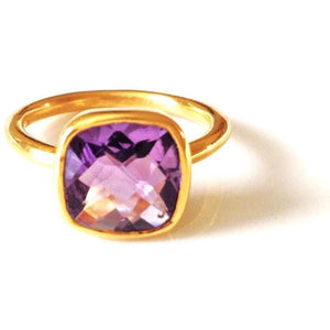 Claire Amethyst Quartz Ring