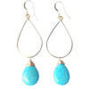 Bailey Turquoise Gold Oval Earrings