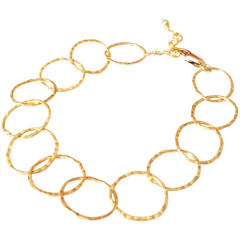 Bella Hammered Circle Bracelet
