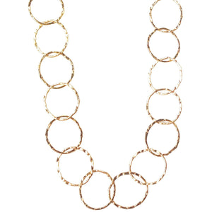 Bella Circle Chain Layer Necklace