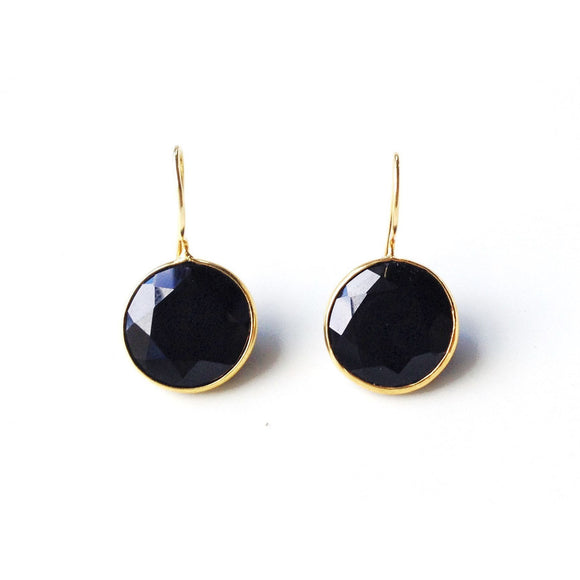 Cory Bezeled Round Earrings