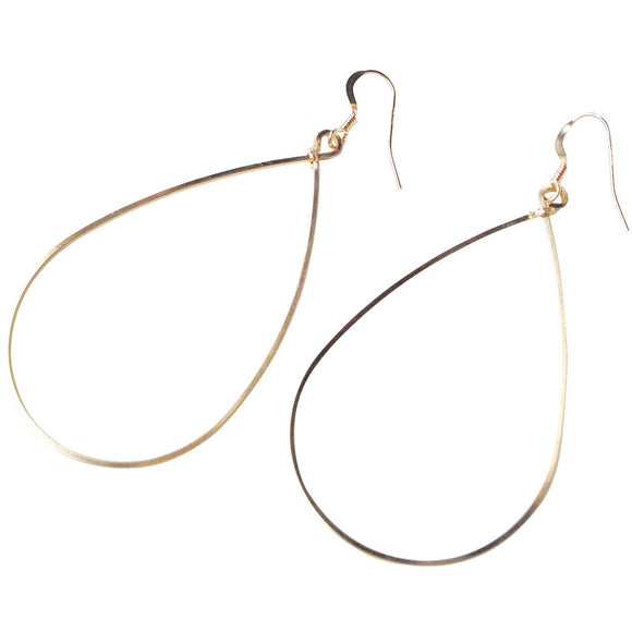 Flora Style Gold Oval Hoop Earrings