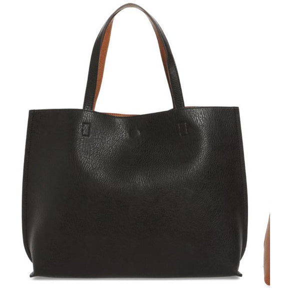Chloe Black Vegan Tote Handbag Street Level