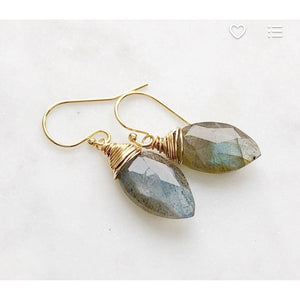 Olivia Square Labradorite Drop Earrings