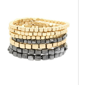 Lila Stacking Steel Beaded Bracelet
