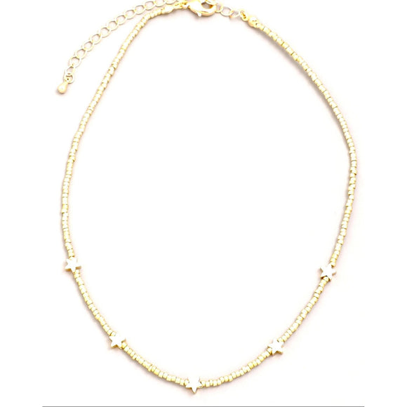 Lauren Star Choker Beaded Necklace