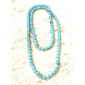 Gina Turquoise Beaded Long Necklace