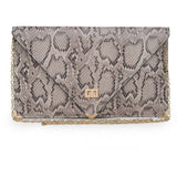 Cally Multi Print Python Envelop Crossbody Clutch