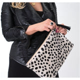 Alyn P Leopard Print Tassel Wristlet Clutch Handbag-Fig Tree Jewelry & Accessories