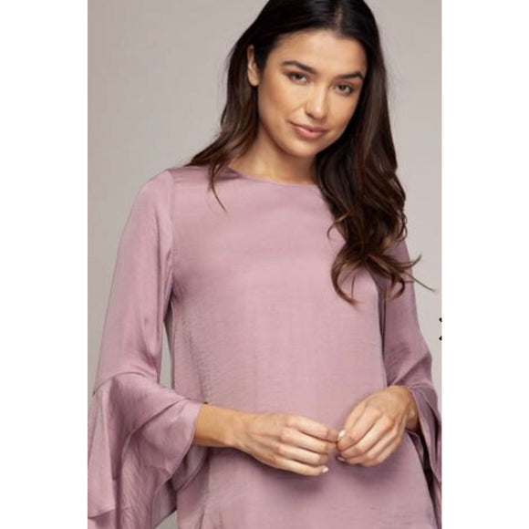 Brittany Soft Lilac Ruffle Top