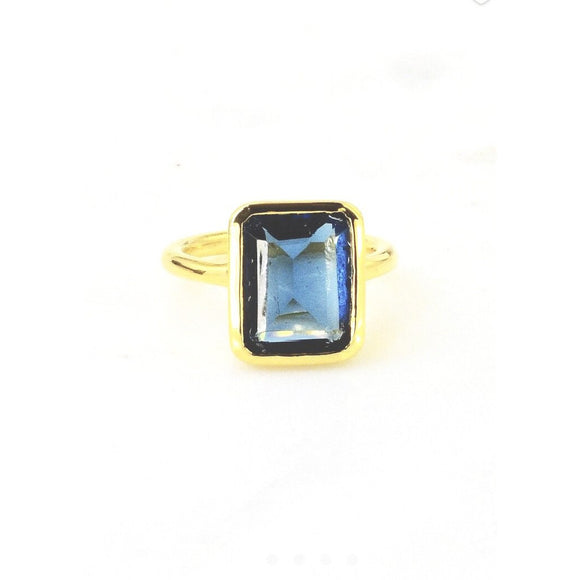 Amia Square Topaz Ring