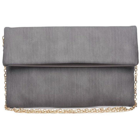 Claudia Grey Clutch Crossbody Handbag