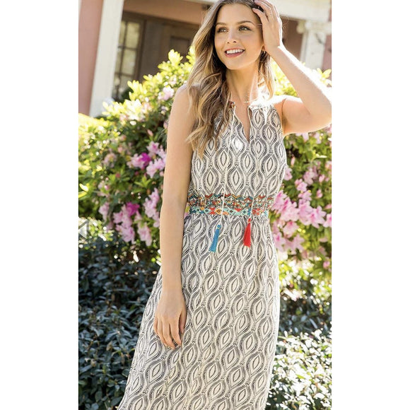 Avery THML Embroidered Maxi Dress