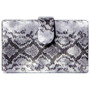 Bianca Box Snake Clutch Crossbody Handbag