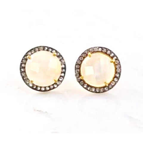 Lux Collection Moonstone & Topaz Studs