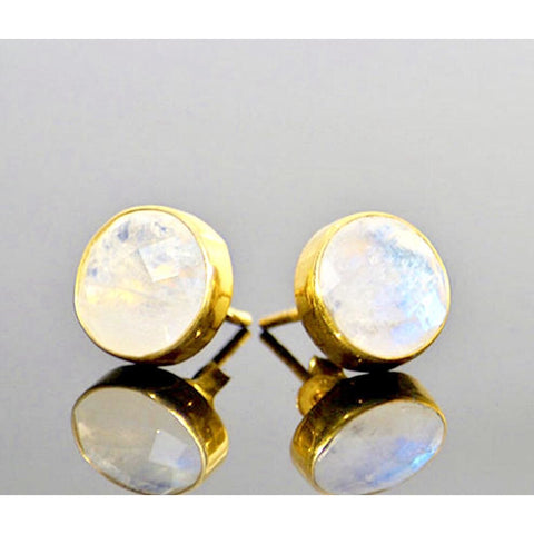 Isabella Moonstone Stud Earrings