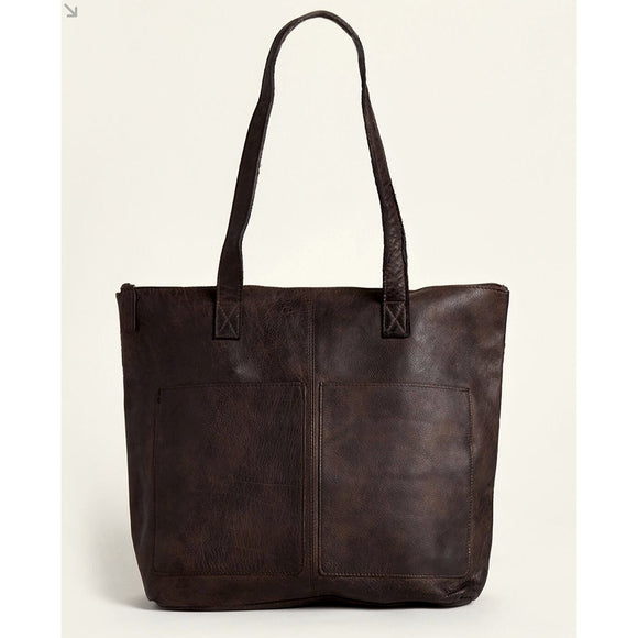 Latico Chloe Dark Brown Tote Handbag