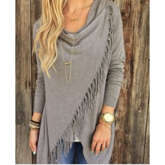 Carys Fringe Lovestitch Sweater-Fig Tree Jewelry & Accessories