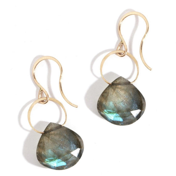 Greta Oval Stone Earrings