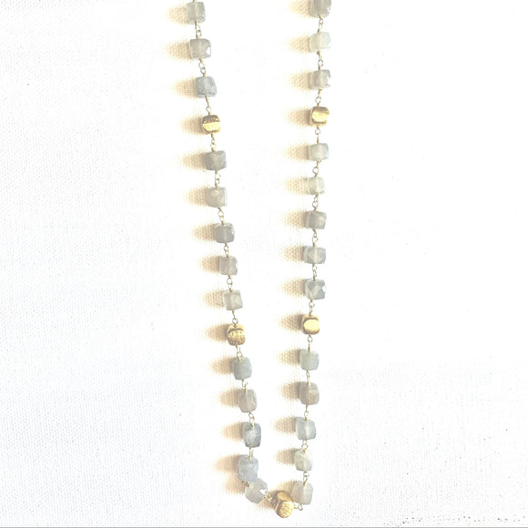 Alana Gold & Labradorite Beaded  Necklace