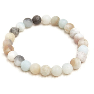 Lila Amazonite Stacking Beaded Bracelet