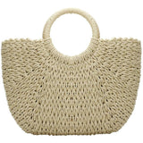 Imoshion Straw Woven Handle Tote-Fig Tree Jewelry & Accessories