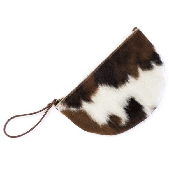 Andi Crescent B Cowhide Wristlet