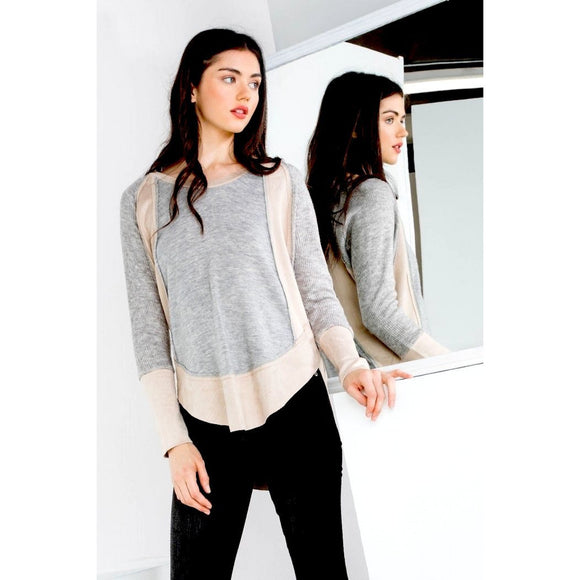 Valeria Long Sleeve Knit Top THML JH917