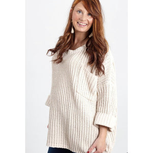 Miracle Cream Soft pocketed Sweater