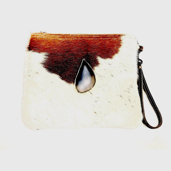 Brio Agate Brown Cowhide Crossbody Handbag