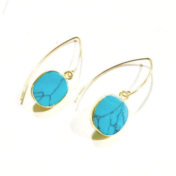 Turin Turquoise Drop Earrings