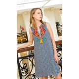 Maira THML Embroidered Dress ftm1089-Fig Tree Jewelry & Accessories