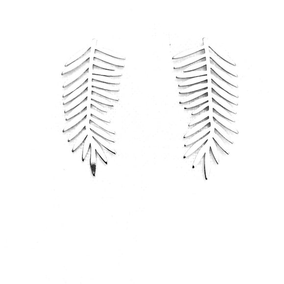 Milana Silver Leaf Earrings