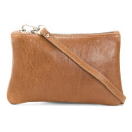 Ariel Small Brown Leather Crossbody Handbag