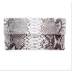 Abria Real Python Clutch Handbag-Fig Tree Jewelry & Accessories