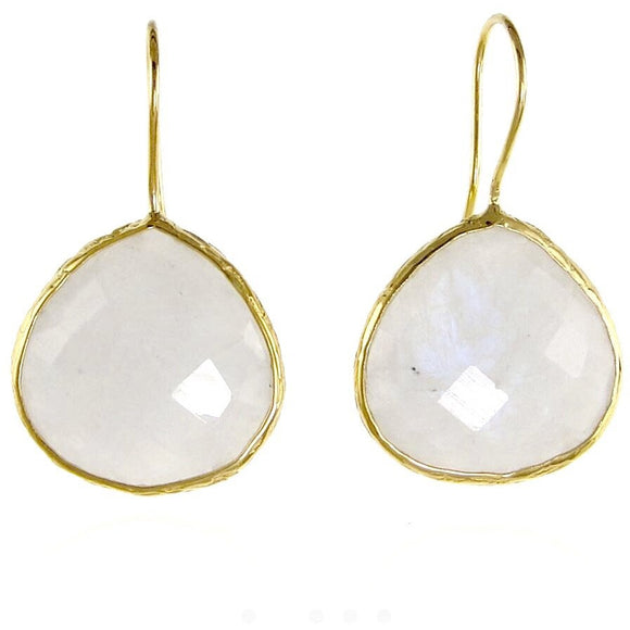 Claire Moonstone Tear Drop Earrings