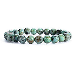 Lila Deep Green Turq Stacking Beaded Bracelet