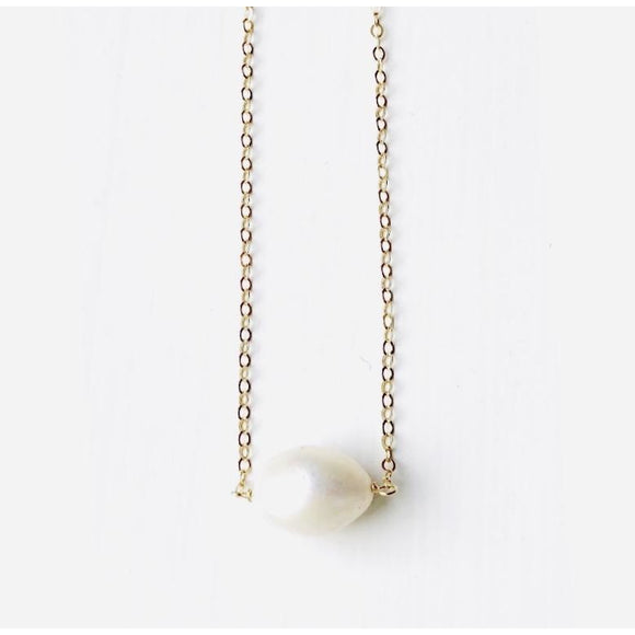 Emma Round Pearl Necklace