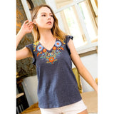 Reece Embroidered Knit Top JH757-1