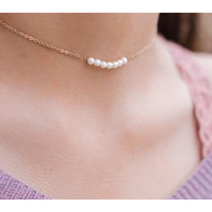 Addie Pearl Choker Necklace